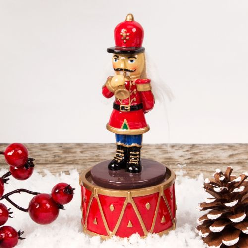Musical Nutcracker Soldier Christmas Ornament - Clockwork Music Box